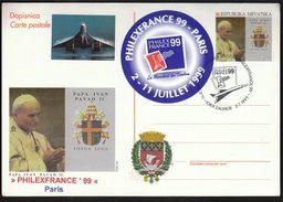 Croatia Zagreb 1999 / World Philatelic Exhibition / PHILEXFRANCE, Paris - Exposiciones Filatélicas