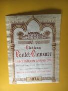 6194 - Château Pontet-Clauzure 1974 Saint-Emilion - Bordeaux