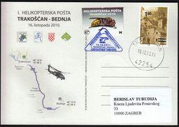 Croatia Trakoscan 2010 / 1st Helicopter Mail Trakoscan - Bednja - Croacia