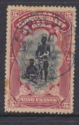 Belgisch Congo 1894 Type Mols 5fr Gest. (bruine Vlekjes In Papier !!) (37225) - Belgisch-Kongo