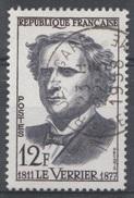 France, Urbain Le Verrier, French Mathematician, 1958, VFU  Nice Postmark - Francia