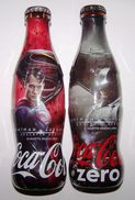Turkey Rare Coca Cola Superman Vs Batman Empty Wrapped Glass Bottle Set!!! - Botellas