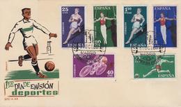 Enveloppe  FDC  1er  Jour   ESPAGNE   Sports   1960 - FDC
