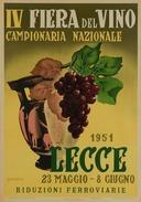 Fiera Del Vino Lecce 1951 - Postcard Reproduction - Pubblicitari