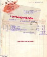 63 - THIERS - FACTURE GAINERIE CH. PRADEL- MALLES MARMOTTES POUR VOYAGEURS- 1938 - France