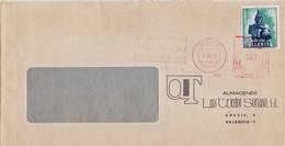 A.2. Valencia Plan Sur. Sobre Con Franqueo Mecánico (Meter Stamps) + Sello Plan Sur. - Marcofilia - EMA ( Maquina De Huellas A Franquear)