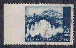 Independent State Of Croatia (NDH) 1941 Definitive, Imperforated On Left, Used (o) Michel 48 - Croatie