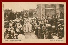 Saint Jean Du Doigt * Sortie De La Procession    ( Scan Recto Et Verso ) - Saint-Jean-du-Doigt