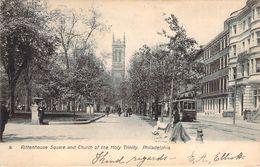 CPA Etats-Unis Rittenhouse Square And Church Of The Holy Trinity Philadelphia (animée)(précurseur) M752 - Philadelphia