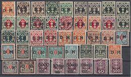 Danzig Dienst Lot 43 Marken Gestempelt, Mit Falz - Briefmarken