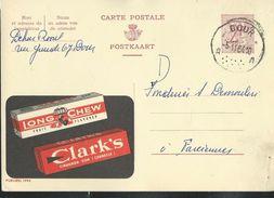 Publibel Obl. N° 1995  (Chewing Gum   Clark's)  Obl.: Dour Le 05/11/1964 - Publibels