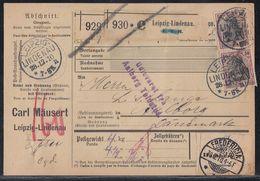 DR Paketkarte Mif Minr.2x 89I, 2x 91I KOS Leipzig-Lindenau 28.12.10 Gel. Nach Dänemark - Deutschland