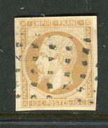 Superbe N° 13A Cachet Gros Points Carrés - 1853-1860 Napoleon III
