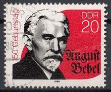 Germania Democratica 1990 Sc. 2799 August Bebel Uomo - Politico - DDR Used - [6] Repubblica Democratica