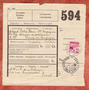 Paketschein, Dienstmarke, Gestempelt Bruessel 1939 + Phil. Centrum 1942? (44518) - Belgien