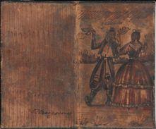 COLONIA DEL SACRAMENTO REPUBLICA ORIENTAL DEL URUGUAY BAILE POSIBLEMENTE PERICO GRABADO SOBRE CUERO CIRCA 1925 VOIR SCAN - Prints & Engravings