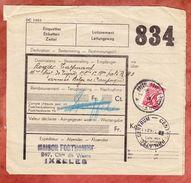 Paketschein, Dienstmarke, Gestempelt Bruessel 1939 + Phil. Centrum 1942? (44519) - Belgien