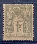 FRANCE - 82  1F OLIVE TYPE SAGE TYPE II NEUF SANS GOMME NSG NO GUMMI COTE 70 EUR - 1876-1898 Sage (Type II)