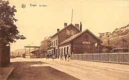 Engis - La Gare (animée, Kiosque, Edit. A. Houart) - Engis