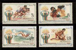 PENRHYN 1992 - OLYMPICS BARCELONA '92 - YVERT Nº 376-379 - MICHEL 527-530 - SCOTT 401-404 - Verano 1992: Barcelona