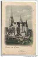 Gruss Aus CASSEL , Neue Iutherische Kirche , 1904 - Kassel