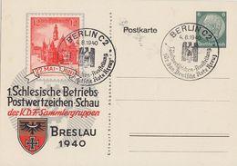 DR Privat-Ganzsache Minr.PP127 C52 SST Berlin 4.8.40 - Briefe U. Dokumente