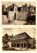 24  DOMME   LA HALLE  PORTE DEL BOS  -   2  CPM ILLUSTRATION ASOLACROUP 1950 / 60 - Autres Communes