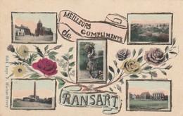 Meilleurs Compliments De  RANSART  , ( Marcovici ) Multivues :charbonnage église,place,panorama - Charleroi