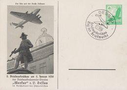 DR Privat-Ganzsache Minr.PP142 C24 SST Dessau 9.1.38 - Briefe U. Dokumente