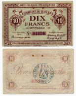 1914 - 1918  // Ville De WILLEMS // Bon De Dix Francs - Bonos
