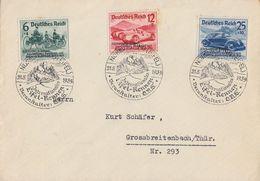 DR Brief Mif Minr.695-697 SST Nürburgring 21.5.39 Int. Eifel-Rennen - Deutschland