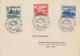 DR Brief Mif Minr.695-697 SST Nürburgring 21.5.39 Int. Eifel-Rennen - Germania