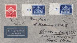 DR Luftpost-Brief Mif Minr.572,2x 620 SR Montabaur 13.7.36 Gel. Nach Süd-Afrika - Deutschland