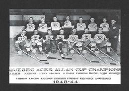 SPORTS - HOCKEY - LE CLUB DE HOCKEY LES AS DE QUÉBEC SAISON 1943-44 - QUEBEC ACES ALLAN CUP CHAMPIONS - Sports D'hiver