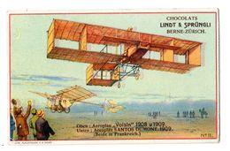 Chromo Suisse, Chocolat Linth & Sprüngli, Aviatik, Avion, Flugzeug, Voisin, Santos, 1908, 1909 - Chocolate