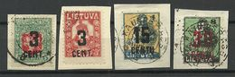 LITAUEN Lithuania 1922 Michel 156 & 161 & 169 & 173 O - Lithuania