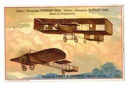 Chromo Suisse, Chocolat Linth & Sprüngli, Aviatik, Avion, Flugzeug, Farman, Blériot, 1908, 1909 - Chocolat