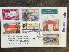 E9 Russia Russie USSR URSS 1961 Brief Von Riga Nach Melbourne Australien - 1923-1991 USSR