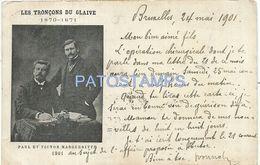 83767 BELGIUM BRUXELLES LES TRONÇS DU GAIVE PAUL & VICTOR MARGUERITTE CIRCULATED TO ARGENTINA POSTAL POSTCARD - Belgique