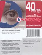 BULGARIA - Eye, B Connect Prepaid Card 40 Leva, Exp.date 14/10/07, Sample - Bulgaria