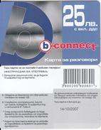 BULGARIA - Lips, B Connect Prepaid Card 25 Leva, Exp.date 14/10/07, Sample - Bulgaria