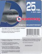 BULGARIA - Lips, B Connect Prepaid Card 25 Leva, Exp.date 28/09/07, Sample - Bulgaria