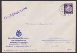 Dienstbrief Dresden Geschäftspapiere Altstoffhandel 1956 - DDR