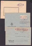 DDR ZKD B 3 Briefe Sternburg (Meckl), Halle Dabei  27V, 20J(2) , Marken Eingerissen - [6] Democratic Republic