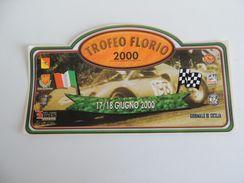 X MAX BIG Adesivo Stiker Etiqueta PLACCA TARGA RALLYE TROFEO FLORIO CM. 22 X 40 CA - Automobilismo - F1