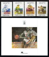 PORTUGAL 1992  - OLYMPICS BARCELONA '92 -YVERT Nº 1914-17+BF 92 - MICHEL 1936-39+BLOCK 91 - SCOTT 1926-29+ SS 1930 - Verano 1992: Barcelona