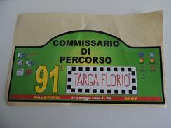 X MAX BIG Adesivo Stiker Etiqueta PLACCA TARGA RALLYE 91 Targa FLORIO  CM. 22 X 40 CA - Automobilismo - F1