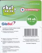 BULGARIA - Chat, B-connect By Globul Prepaid Card 25 Leva(glossy Surface), Sample - Bulgaria