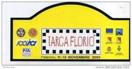 X Adesivo Stiker Etiqueta Adesivo TARGA FLORIO RALLY 2005 MAXI 9X19 PLACCA RALLY - Automobilismo - F1