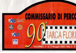 X BIG 21X42 Adesivo Stiker Etiqueta PLACCA RALLY 90 TARGA FLORIO - Automobilismo - F1